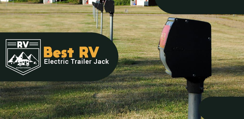 RV electric trailer jack
