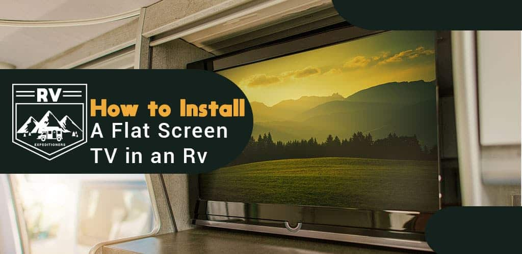 how to install a flat screen tv in an rv